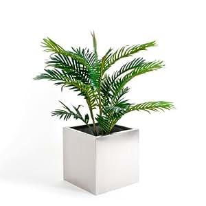 Edelstahl Pflanzenkübel, Blumenkübel, 40x40x40 cm, bremermann® 1646