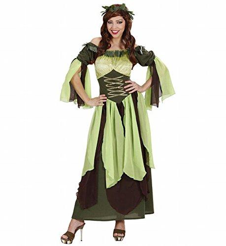 Widmann 7434M - Erwachsenenkostüm Mutter Natur, Kleid und Efeu-Haarschmuck, Größe (Halloween Kostüm Natur Mutter Das)