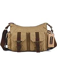 Gootium Vintage High Density Canvas Shoulder Bag Cross Body Bag, Unisex