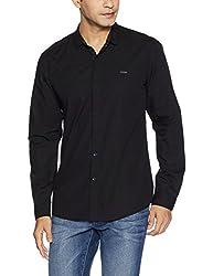 Wrangler Mens Casual Shirt (8907649198766_W2654310421R_M_Black)