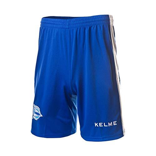 KELME D. Alavés Primera Equipación 2018-2019, Pantalón Corto, Azul, Talla 12
