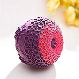Yeying123 Haustier-Hunde-Bune-resistente Hüpfkugel Gummi Dog Kauen Spielzeug Hunde Spielen Spielzeug Wasserspeicher Ball,purple2