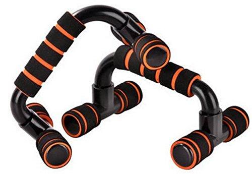 Push-up-Rahmen Zu Hause Indoor-Fitness-Brusttraining Schaum Push-ups Klammer I-förmigen,Orange - Stahl Lagerung Brust