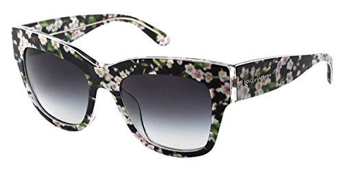 Dolce & Gabbana Herren Sonnenbrille 28428G: Black/Peach Flowers
