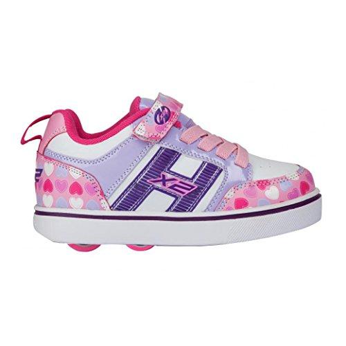 Heelys Scarpe da Fitness Unisex-Bambini, Multicolore (Light Pink/Lilac/Hearts 000) 30 EU