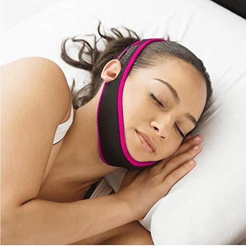 0011 Natürlichen (Anti-Schnarch Kinnriemen, Bandage Kiefer-Band, Keine Schlafapnoe Masken, Einstellbare Natürliche Schnarchentlastung Gerät Für Frauen Und Männer (Farbe : Rose Rot))