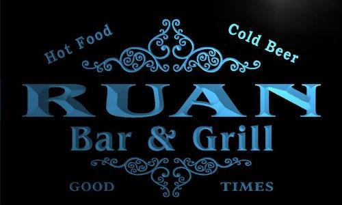 u38497-b RUAN Family Name Bar & Grill Home Brew Beer Neon Sign Barlicht Neonlicht Lichtwerbung