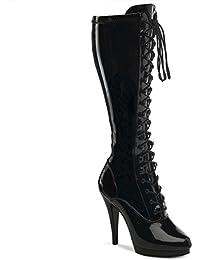 Fabulicious Flair-2023 - sexy chaussures Femmes talon hauts mini plateau bottes 36-48