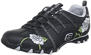 temperament shoes super cheap 50% price Skechers Damen Bikers Flower Girl Sneaker, Schwarz (BKGY ...