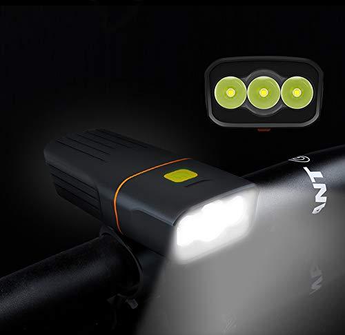 LE Fahrradlicht USB,USB Wiederaufladbar Led Fahrradbeleuchtung IPX5 Wasserdicht Fahrradlicht Led Super Lange Arbeit Stoßfest Fahrradlicht Vorne