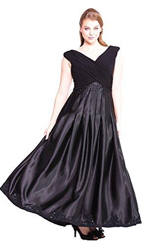Abendkleid elegant für Festliche Anlässe lang Luxus Ballkleid Brautmutter-Kleid Damen XXL große...