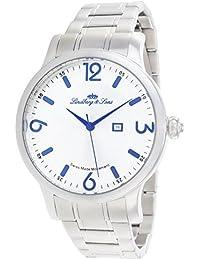 Lindberg & Sons LSSM203 - Reloj para hombre de cuarzo con correa de acero inoxidable color plata