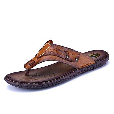 Slippers & amp da uomo;Primavera Estate Comfort microfibra esterna casuale Tallone piano Walking Sandal sandali US7.5 / EU39 / UK6.5 / CN40