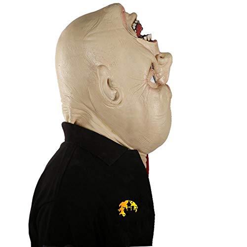 LXIANGP Umgekehrte Geist Kopf Party Latex Maske Zimmer Flucht Spukhaus Großhandel Requisiten Latex Zombie Geistermaske Halloween