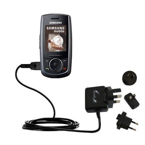 10W Gomadic Steckdosen-Ladegerät AC kompatibel mit Samsung SGH-M600 mit Energiesparmodus und TipExchange
