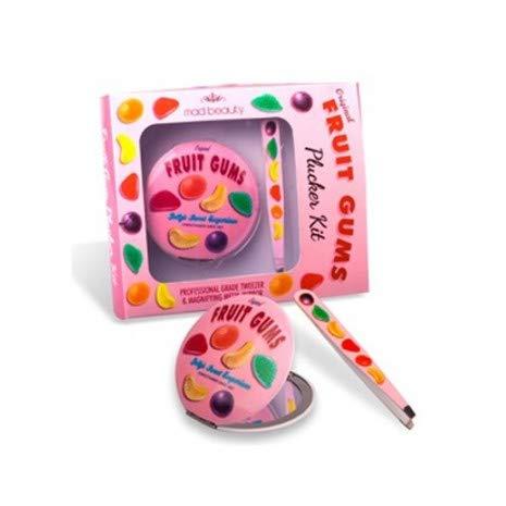 Fruits Gencives Plucker Kit (Pince à épiler et miroir grossissant Compact) - Mad Beauty
