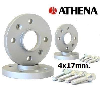 ATHENA.. Kit de 4 enjoliveurs 17 mm. KANGOO I (4 Trous) de 1997 à 2008 avec boulons en Acier.