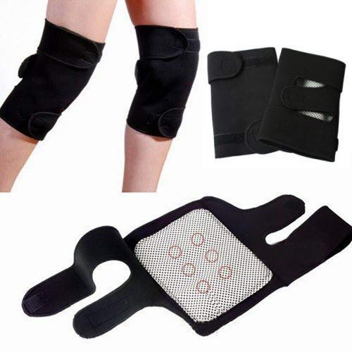 Jini Collection® Magnetic Therapy Knee Hot Belt Self Heating Knee pad Knee Support Belt Tourmaline Knee Braces Support Heating Belt - Free size