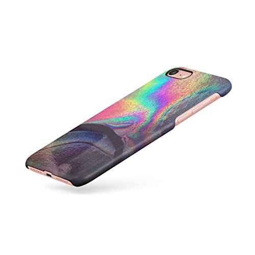 Regenbogen Hippie Holographic Print Pastel Acid Trippy Marmor Dünne Rückschale aus Hartplastik für iPhone 7 & iPhone 8 Handy Hülle Schutzhülle Slim Fit Case cover Rainbow Hippie
