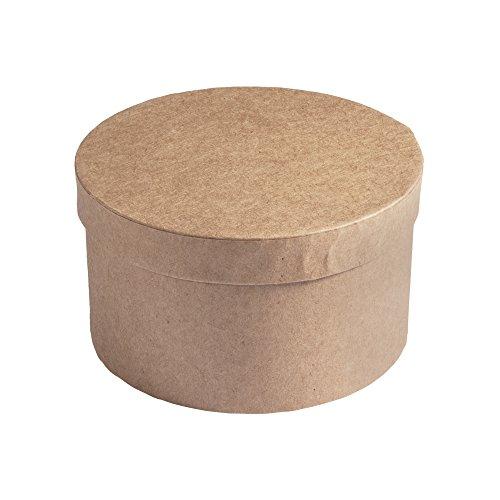 RAYHER HOBBY Rayher 71741000 Pappmaché Schachtel FSC Recycled 100%, rund, 8cm hoch,