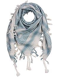 2f078430b4d FREAK SCENE® Foulard palestinien keffieh en coton - couleur de base blanche  - 100 x 100 cm - Large palette de…
