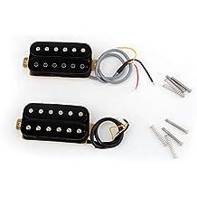 Musiclily Pro Alnico 5 Set de Humbucker 50mm Pastilla del Mástil y 52mm Pastilla del Puente