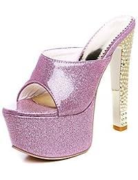 ligaosheng Mujer-Tacón Stiletto-Confort Talón Descubierto-Sandalias-Boda Vestido Fiesta y