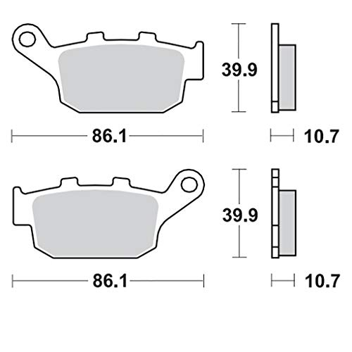 Bremsbelag Moto-Master RoadPRO Ceramic XL 600 V Transalp PD10 97-00 hinten 9700 Quad