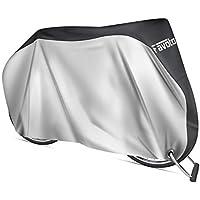 Favoto Funda para Bicicleta Exterior 210D Cubierta Protector al Aire Libre contra Sol Polvo para Montaña Carretera XL Negro y Plata