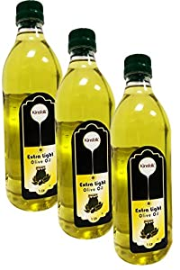 Kinsfolk Extra Light Olive Oil ((Imported Oil from Spain)) - 1 LTR ((Pack of 3))
