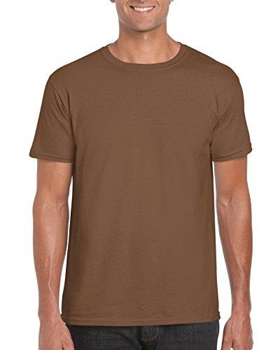 Softstyle T-Shirt - Farbe: Dark Chocolate - Größe: L (Jerzees Tee Ringer)