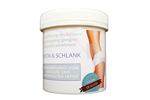 MiaKura SCHÖN & SCHLANK (Anti-Cellulite Creme & ABNEHMEN) Straffende Creme für Po, Beine, Arme, Bauch: 250ml. (geeignet auch für...