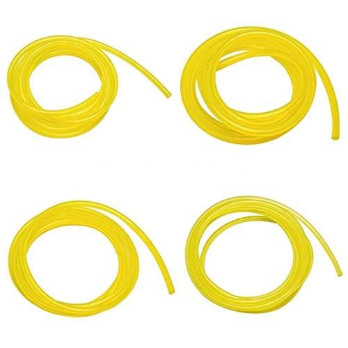 4 Pezzi 1.8 m Tubazione lubrificante Tubo Flessibile del Carburante per Motori motoseghe Weedeater Set Kit di Sostituzione Tubo Benzina Benzina(Giallo) Jasnyf