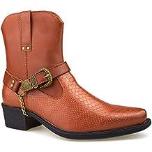 London Footwear - Botas de vaquero hombre