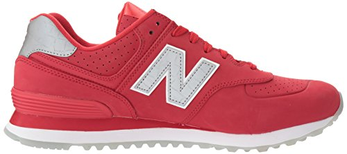 New Balance Mens 574 Classic Traditionnels Synthetic Trainers Rot