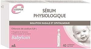 Babysoin sérum physiologique boite de 40 unidoses 5ml voies nasales et oculaires