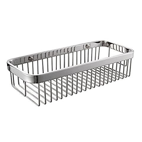 KES SOLID SUS 304 Stainless Steel Shower Caddy Bath Basket Storage Shelf Hanging Organizer Rustproof Wall Mount, Polished Finish,