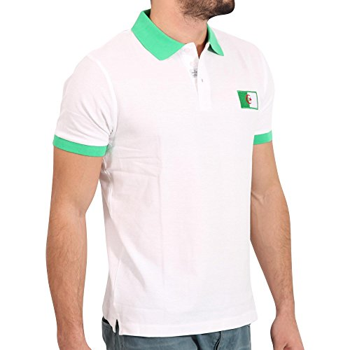 FRESH BRAND Herren Kurzarm Polo Shirt in Weiß/Grün Weiß