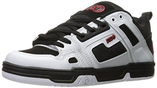 dvs-apparel-herren-comanche-skateboardschuhe-noir-black-white-red-leather-43-eu