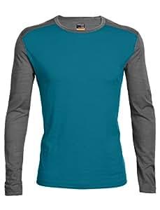 Icebreaker Oasis sous-Vêtement Thermique Manches Longues Homme, Bleu-Alpine/Jet Heather, 2 XL
