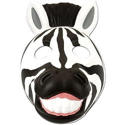 Wild Republic Grinimals, máscara careta de cebra para niños y adultos (14277)