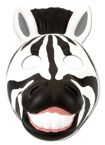 (Wild Republic Europe ApS 14277 - Grinimals Maske für Kinder und Erwachsene, Zebra)