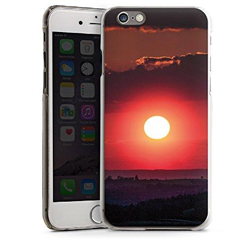 Apple iPhone 4 Housse Étui Silicone Coque Protection Coucher de soleil Paysage Romantisme CasDur transparent