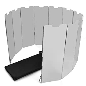 SODIAL(R) 10 placas Fold camping Cocina Cocina de gas Escudo del viento de la pantalla plegable al aire libre 5