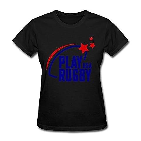Femme's Play Rugby Usa Logo T-shirt
