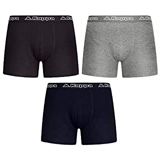 Kappa Calzoncillos de Boxer Pantalones Cortos Negro Mezcla de Colores M L XL XXL 3, 6, 9Packs–Hombres De Ropa Interior