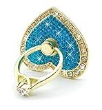 O'woda Romantique Coeur Cristal en métal téléphone Support Bague Anti Goutte...