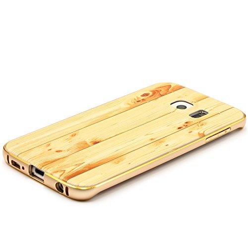 iPhone 6 / 6s Coque, Urcover Wood Style [Look Bois] Housse Téléphone Smartphone Rouge Marron Étui Apple iPhone 6 / 6s Case Cover Bois optik