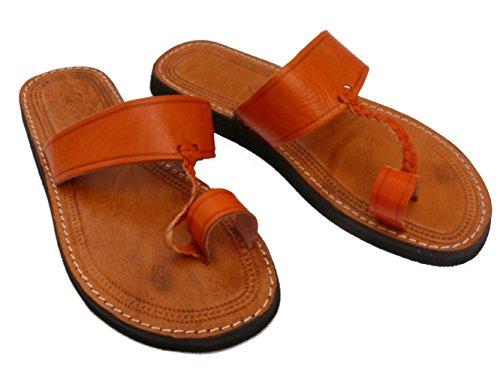 Orientalische Leder Schuhe Orient Sandalen - Damen Orange