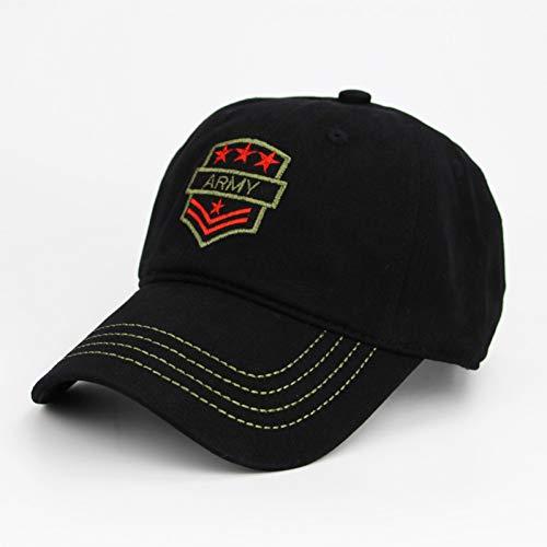 SKAMAO Baseball Kappe Mode Camo Baseballmütze Männer Taktische Stickerei Cap Camouflage Hut Für Männer Knochen Hut Trucker Schwarz.4star -
